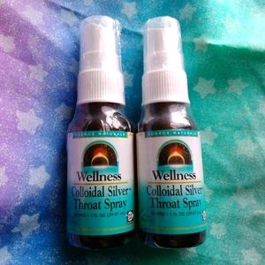 2 New Sealed Colloidal Silver Throat Spray